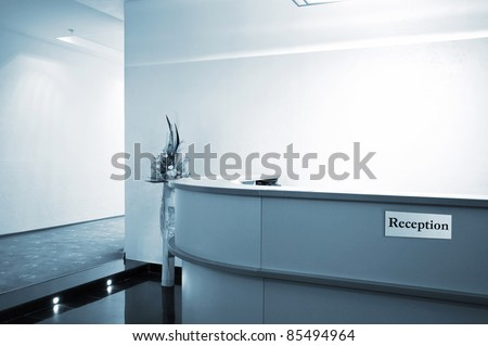 Reception in a hall to new modern hotel