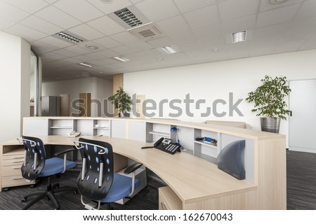 Reception room of a new contemporary office