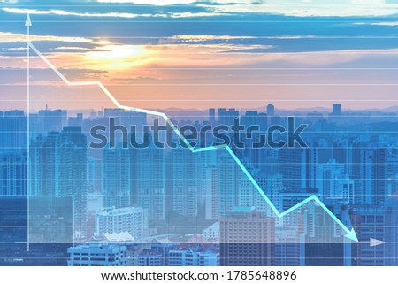 Recession and crisis concept with decline chart Stock photo ©