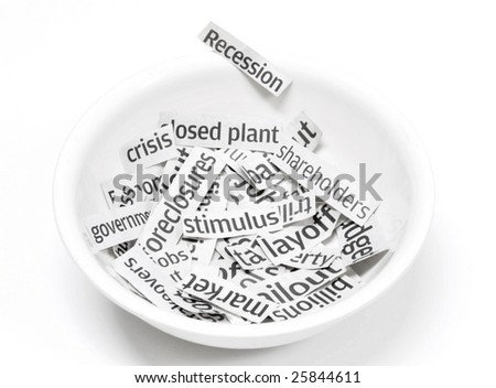 Recession headlines served in a bowl up for breakfast