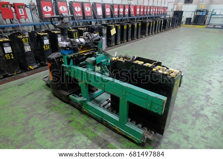 recharging electrical for forklift, battery charger. #681497884