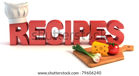 recipes 3d concept
