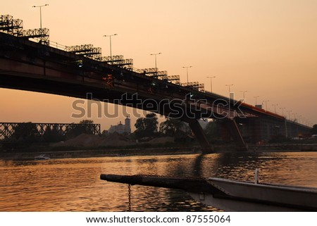 reconstruction of bridge over Sava river in Belgrade, Serbia