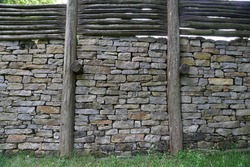 Reconstruction of the Celtic city wall near Finsterlohr