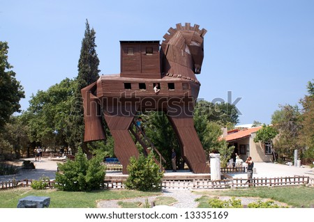 Reconstruction of the Trojan Horse, Turkey