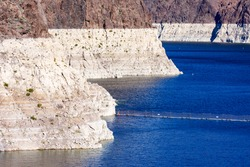 Record low water level of shrinking Lake Mead, key reservoir along Colorado River, amid severe drought in American West