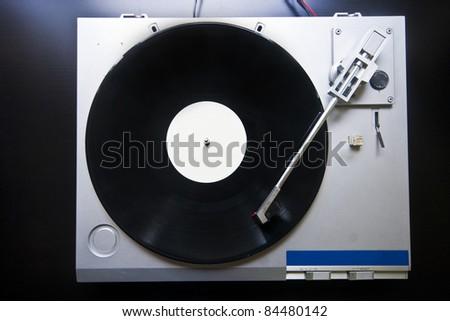 Record player closeup