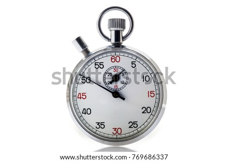 Record time of the timer, stopwatch, comparison or competition can accurately record the time, - Shutterstock ID 769686337