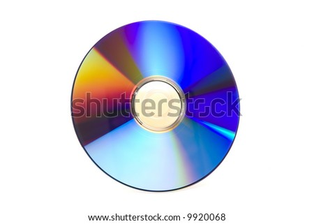 Recordable Blank DVD Disk isolated against white background