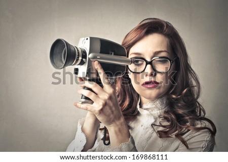 recording girl