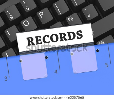 Records File Representing Docs Paperwork And Notes 3d Rendering