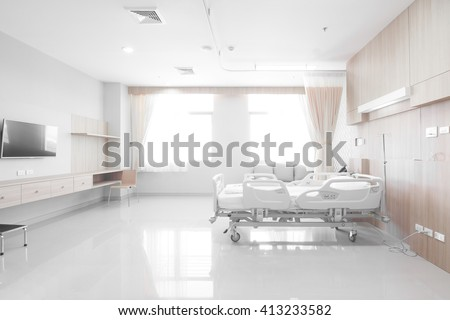 Recovery Room with beds and comfortable medical equipped in a hospital