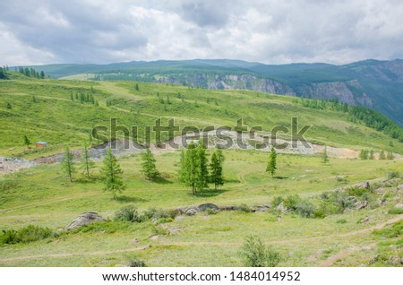 Recreation area in Altai mountains with home Russia  #1484014952