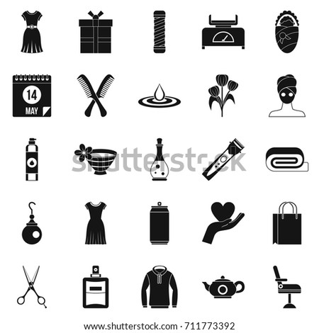Recreation icons set. Simple set of 25 recreation  icons for web isolated on white background