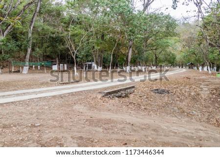 Recreational area near Rio Azul river, Guatemala #1173446344