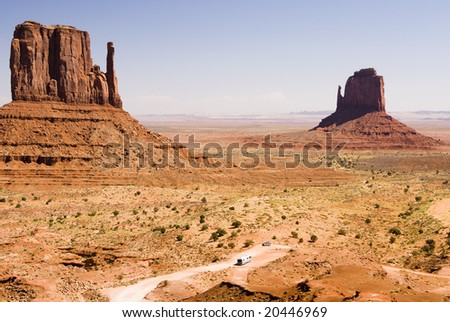 Recreational vehicle in Monument Valley