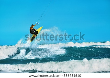 Kitesurfing in the Seychelles