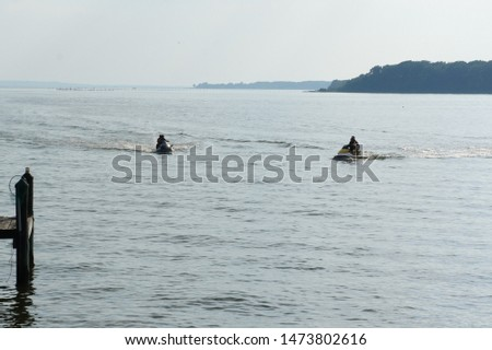 Recreational watercraft on the bay #1473802616