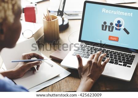 Recruitment Hiring Employment Human Resources Concept
