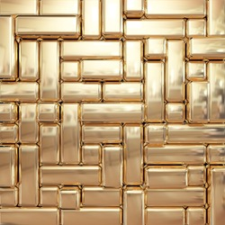 rectangle gold background 3d