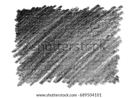Rectangle graphite pencil texture, isolated on white background