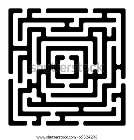 rectangle maze isolated on white, clip art illustration