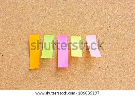 Rectangle reminder notes sticking - stock photo
