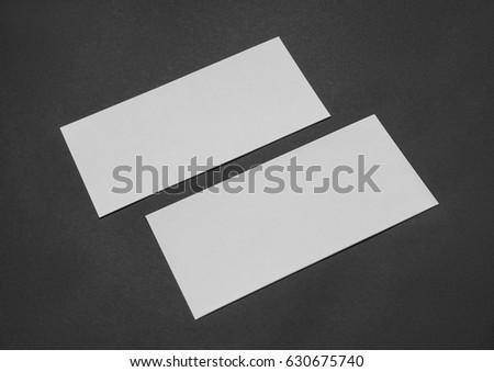 Rectangular card with a black paper #630675740
