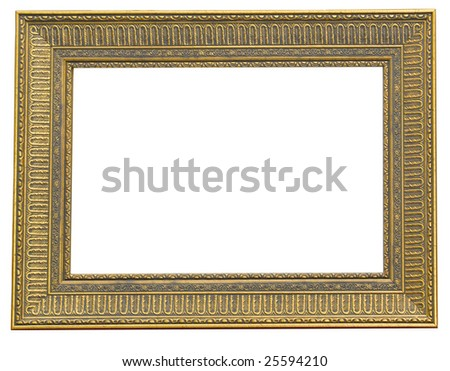 rectangular golden  frame...