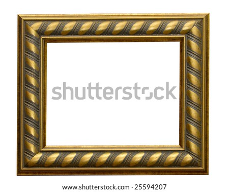 rectangular golden grange frame ...