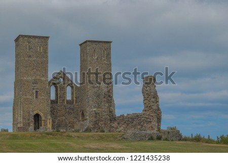 Reculver towers and roman fort