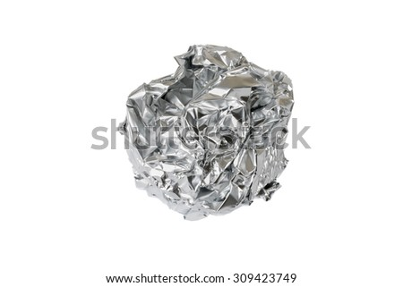 Recyclable metal foil. Garbage example #309423749