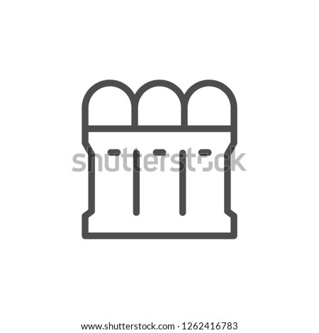 Recycle bin line icon isolated on white
