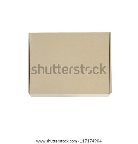 recycle cardboard box package isolated on white background