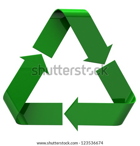 Recycle icon, 3d image