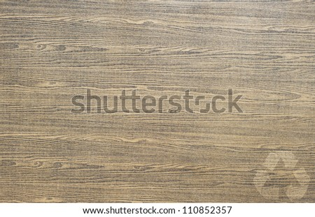 Recycle icon on wood texture and  background