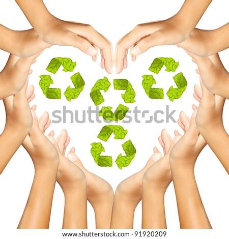 Recycle Logo in hands