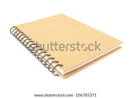 recycle notebook isolated on the white background