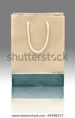 Recycle paper bag with reflect