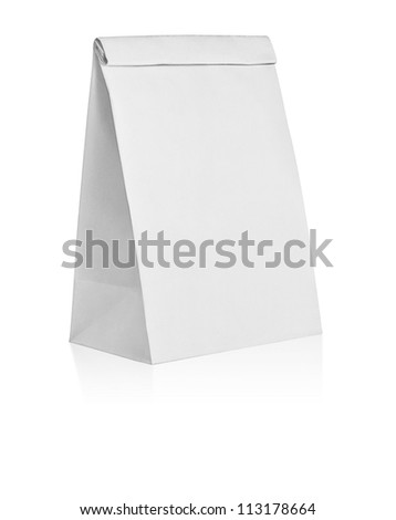 recycle paper is on white background with clipping path