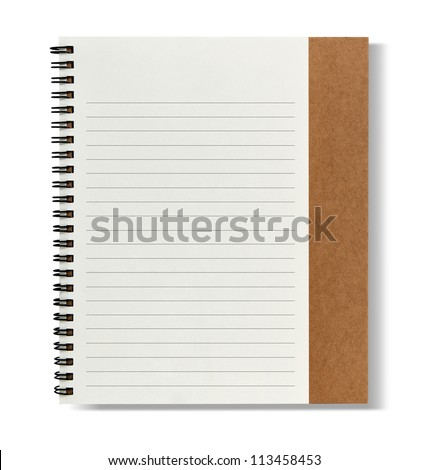 recycle paper notebook right page