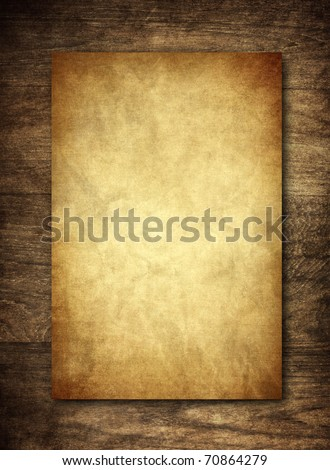 recycle paper on wooden background - stock photo