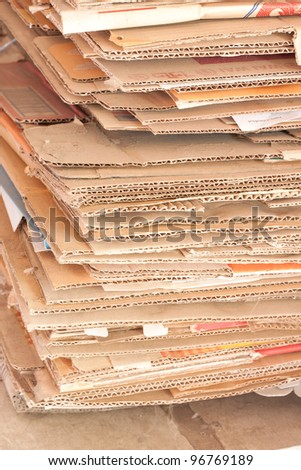 recycle papers from boxes