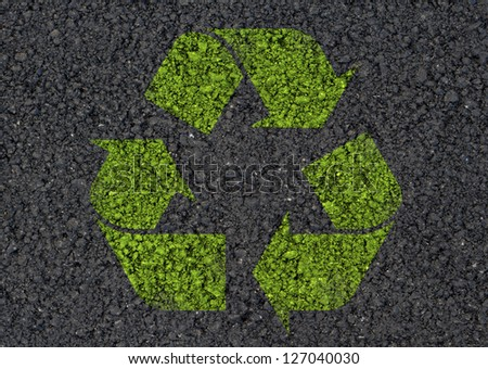 Recycle symbol background