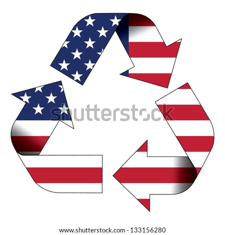 Recycle symbol flag of United States