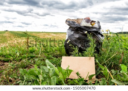 Recycle waste litter rubbish garbage trash junk clean training. Nature cleaning, volunteer ecology green concept. Young woman pick up spring forest at sunset . Environment plastic pollution #1505007470