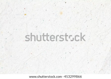Recycled crumpled white paper texture background for business, education and communication concept design. #453299866