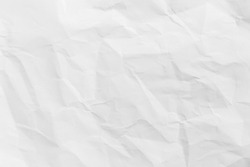 Recycled crumpled white paper texture or paper background for design with copy space for text or image