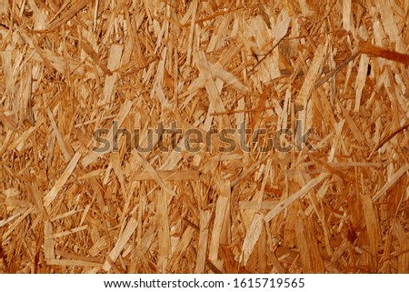Recycled detailed wood texture from compressed wood chippings and strands or oriented strand board, osb