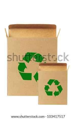 recycled paper box.